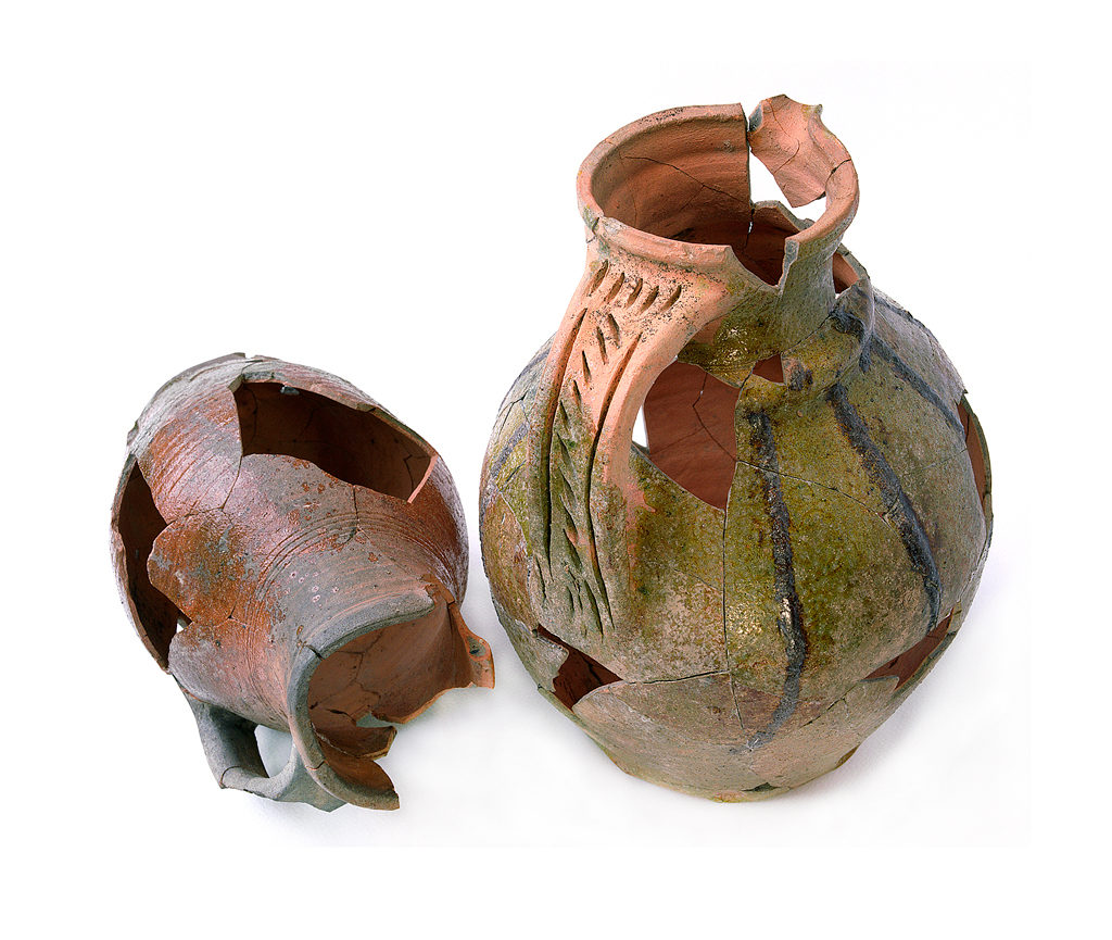 Medieval pitchers from Adare Castle Co. Cork